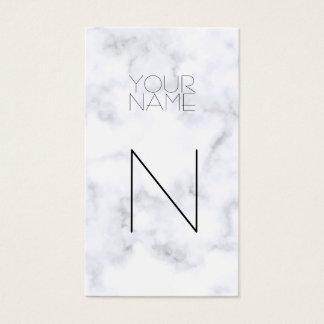 Mode-weißes Marmormuster Visitenkarte