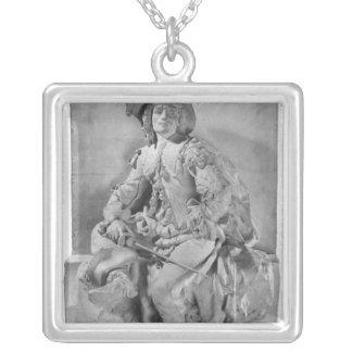 Modell für das Monument zu Alexandre Dumas Pere Halskette Mit Quadratischem Anhänger