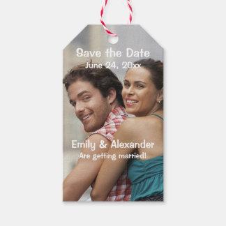 Modern Save the Date Wedding Geschenkanhänger