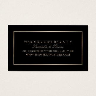 Modern u. glatt, schwarz u. Gold, Geschenkladen Visitenkarte