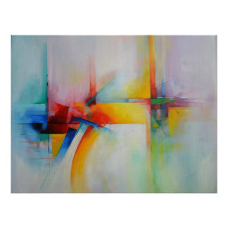 Moderne abstrakte Acrlylic Malerei Poster