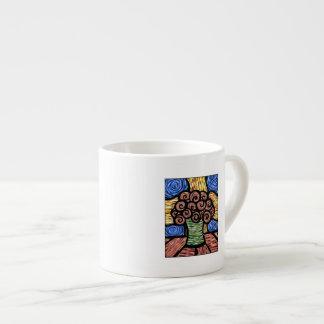 Moderne abstrakte Blumen im Vase Espressotasse