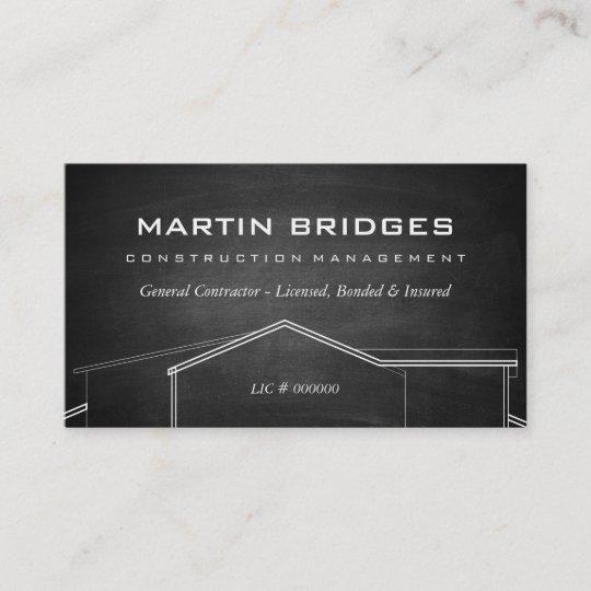 Moderne Allgemeine Bau Kreide Visitenkarten Visitenkarte