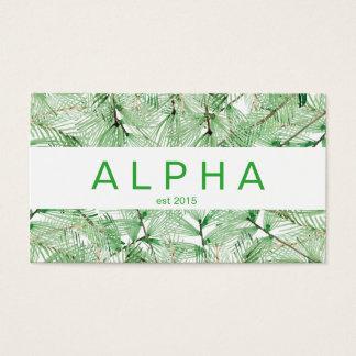Moderne Aquarell-Fichte-Niederlassungen Visitenkarten