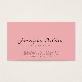 Moderne berufliche elegante rosa weiße saubere visitenkarte