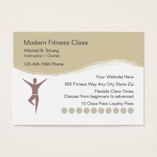 Moderne berufliche Fitness-Geschäfts-Karten Jumbo-Visitenkarten