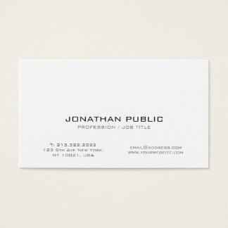 Moderne berufliche weiße intelligente kreative visitenkarte