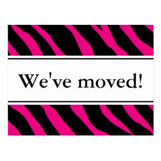 Moderne bewegliche Zebrastreifen Pink der Postkarte