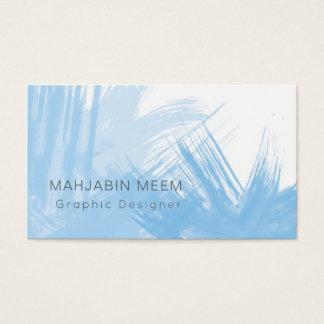 Moderne blaue Aquarell-Visitenkarte Visitenkarten