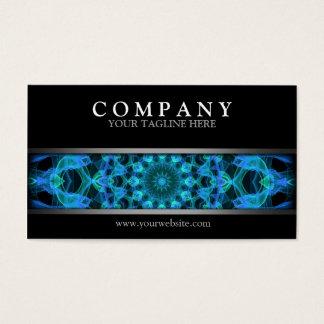 Moderne blaue Quallen-Mandala Visitenkarte
