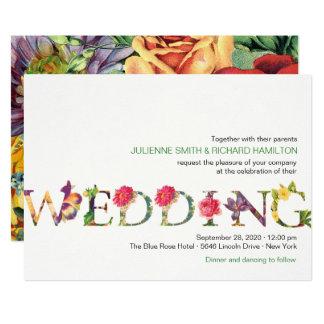 Moderne Blumenhochzeit der Erinnerung   12,7 X 17,8 Cm Einladungskarte