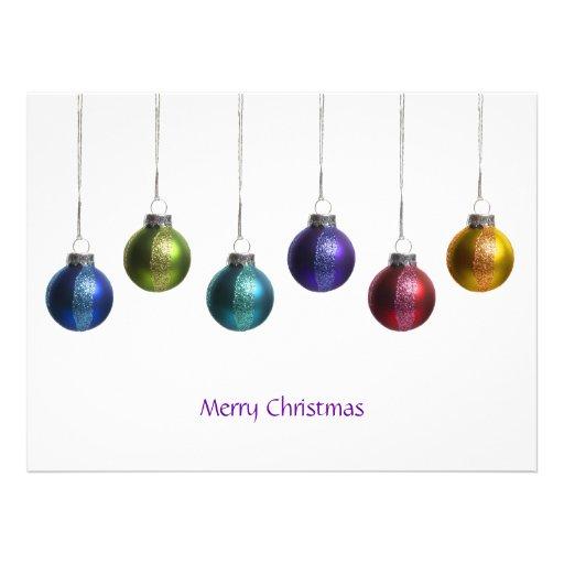 Moderne bunte Verzierungs-Weihnachtsgruß-Karte Individuelle Einladungskarten