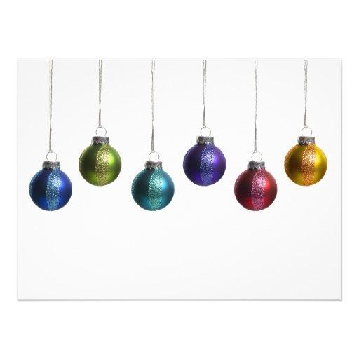 Moderne bunte Verzierungs-Weihnachtsgruß-Karte Einladungskarte
