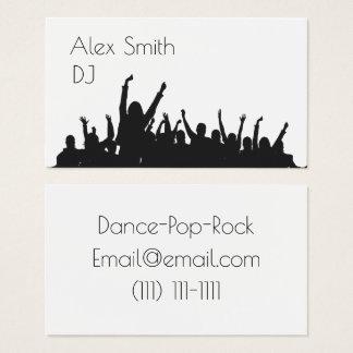 moderne DJ-Partyleutetanz-Geschäftskarte Visitenkarte