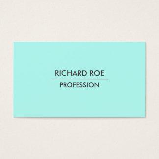 Moderne einfache berufliche cyan-blaue visitenkarten
