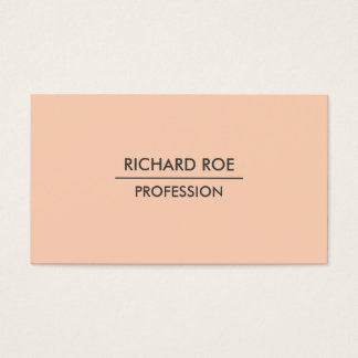 Moderne einfache berufliche orange visitenkarten