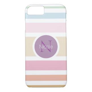 moderne einfache feine Pastellfarben iPhone 8/7 Hülle