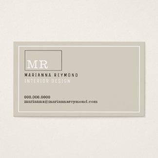 moderne Einleitung Kontaktkarte, Innenarchitektur Visitenkarte