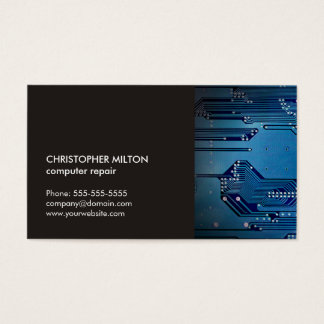 Moderne elegante graue blaue visitenkarte