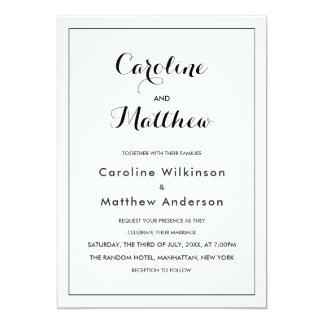 Moderne elegante Hochzeits-Einladung 12,7 X 17,8 Cm Einladungskarte