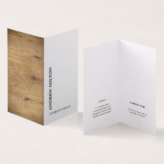 Moderne elegante hölzerne weiße Innenarchitektur Visitenkarten