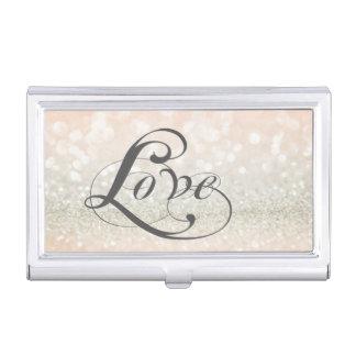 Moderne elegante schicke Glittery-Liebe Visitenkarten-Schatullen