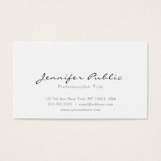 Moderne elegante weiße einfache berufliche Ebene Visitenkarte