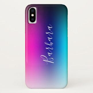 Moderne Farbmischungs-abstrakter Hintergrund iPhone X Hülle