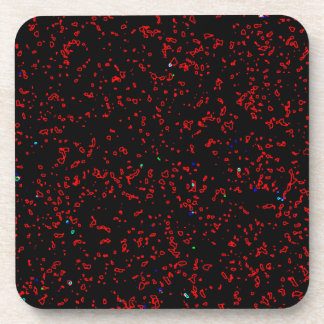 Moderne Fraktal-Kunst-Schwarz-rote Untersetzer