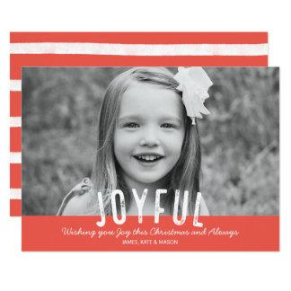 Moderne frohe WeihnachtsFoto-Karte 12,7 X 17,8 Cm Einladungskarte
