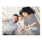 Moderne fröhliche Feiertags-Foto-Karte Postkarte
