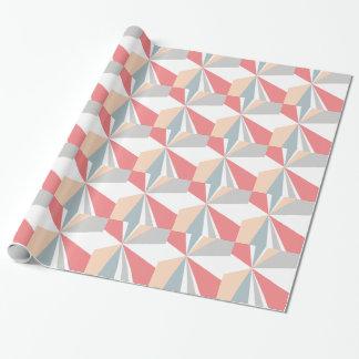 Moderne geometrische Kunst-Retro Farbexplosion Geschenkpapier