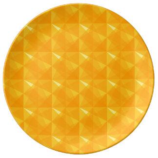 Moderne geometrische Musterporzellanplatte Teller