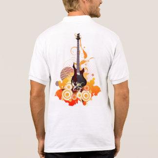 Moderne Gitarren-weißes Polo-Shirt Poloshirt