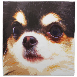 moderne große Chihuahua Stoffserviette