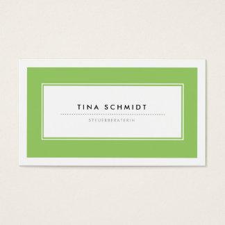 Moderne Grün Visitenkarten
