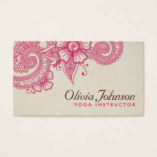Moderne Hennastrauch-Entwurfs-Visitenkarten Visitenkarten