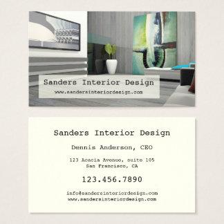 Moderne Innenarchitektur-Visitenkarte Visitenkarte