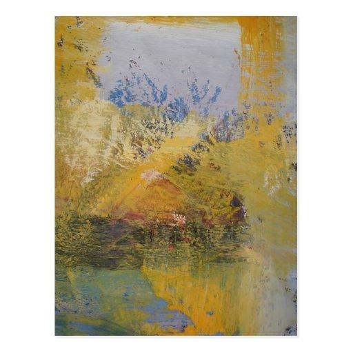 moderne kunst gelb abstrakte kunst malerei postkarten zazzle. Black Bedroom Furniture Sets. Home Design Ideas