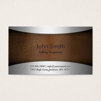 Moderne lederne Sicherheits-Ingenieur-Visitenkarte Visitenkarte