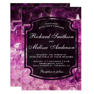 Moderne lila Amethyst Karte