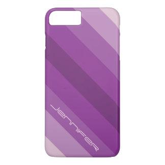Moderne lila Streifen des Chic-fünf mit iPhone 8 Plus/7 Plus Hülle