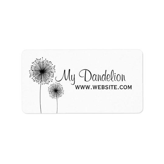 Moderne Löwenzahn-Blume KUNDENSPEZIFISCHER Adressaufkleber