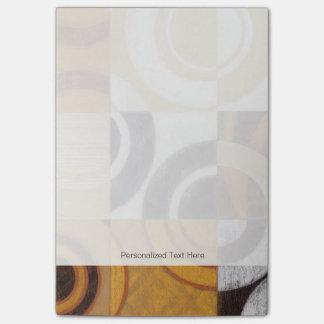 Moderne Malerei mit Kreismustern Post-it Haftnotiz