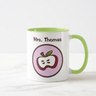 Moderne personalisierte Lehrer-Tasse Apples Tasse