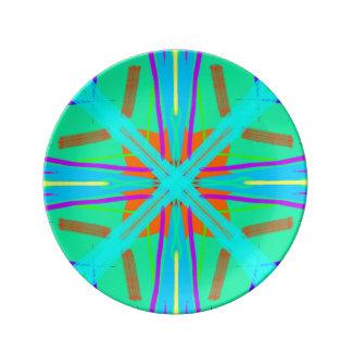 Moderne Pop-Kultur-Farben und Muster Teller