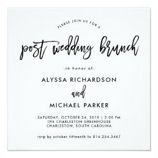 Moderne Posten-Hochzeits-Brunch-Einladung des Quadratische 13,3 Cm Einladungskarte