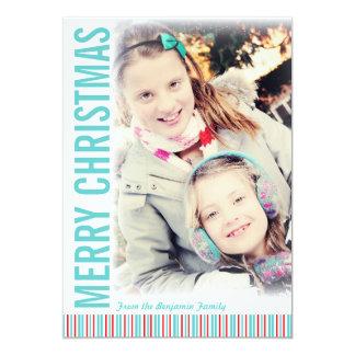 Moderne Retro Weihnachtsgruß-Foto-Karte 12,7 X 17,8 Cm Einladungskarte