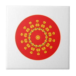 Moderne Rot-und Goldpunkt-Schein-Grün-Diamanten Kleine Quadratische Fliese