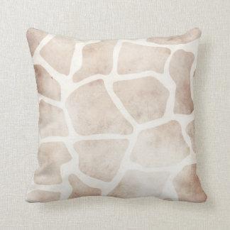 Moderne Schmutz-Giraffen-afrikanisches Kissen